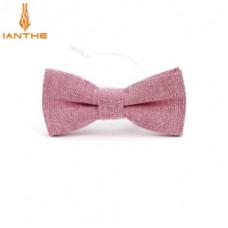 Мужской галстук-бабочка красный хлопок