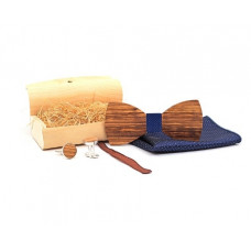 Набор мужской галстук-бабочка, запонки и платок