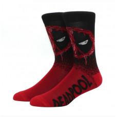 Классные высокие носки с принтом Дэдпул
