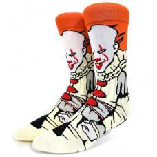 Крутые яркие высокие носки с принтом клоуна Пеннивайз