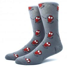 Классные высокие носки с принтом героя Человек паук