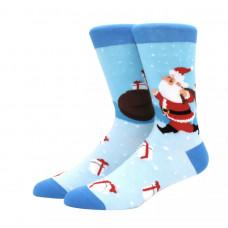 Уникальные высокие мужские носки с принтом Санта Клаус