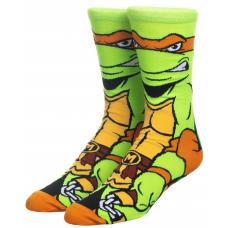 Модные высокие носки с принтом черепашки Микеланджело