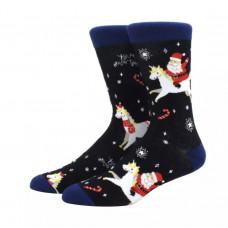 Забавные праздничные  носки с принтом Санта Клаус