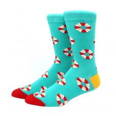 Стильные высокие носки с принтом Спасательный круг