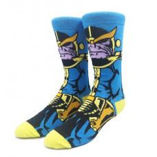 Крутые суперзлодейские носки с принтом героя Танос