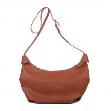 Модная женская сумка лодочка коричневая