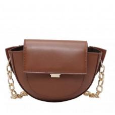 Классная женская сумочка коричневая матовая