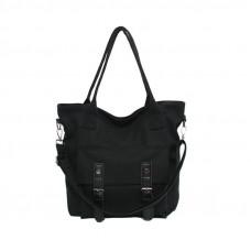 Стильная женская чёрная сумочка тоут
