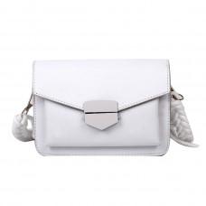 Шикарная женская сумочка через плечо белая