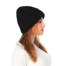 Классная женская шапка в черном цвете
