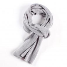 Мужской теплый шарф серый