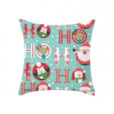 Новогодняя наволочка для подушки с новогодним принтом Ho-Ho-Ho