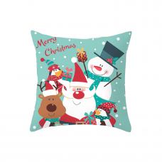 """Новогодняя наволочка для подушки с новогодним принтом """"С Рождеством"""""""