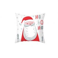 Новогодняя наволочка для подушки с принтом Санта Клауса