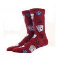 Крутые мужские носки с принтом Покер