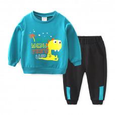 Детский комплект для мальчика с принтом динозавра