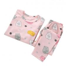 Детская пижама для девочки с принтом котиков