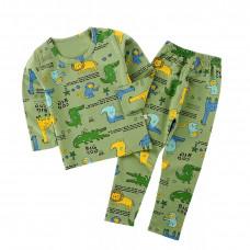Детская пижама для мальчика с принтом крокодила
