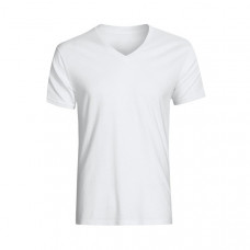 Футболка мужская белая (V-образный вырез) 1003