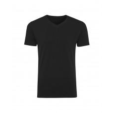 Футболка мужская чёрная (V-образный вырез) 1004