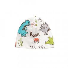 Детская шапка с динозаврами 1037