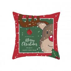 Новогодняя наволочка для подушки с принтом Рождественский Олень