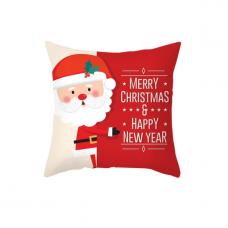 Новогодняя наволочка для подушки с принтом Новогодний Санта
