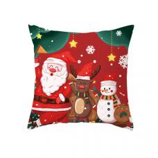 Новогодняя наволочка для подушки с принтом Новогодний Праздник