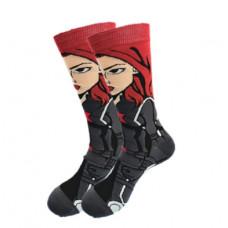 Высокие мужские носки Черная вдова