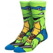 Стильные яркие носки с принтом черепашки Леонардо